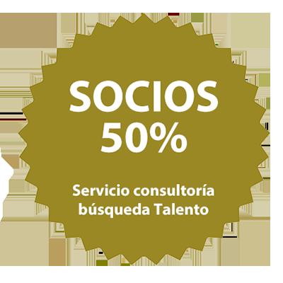 Socios 50% - Servicio consultoría búsqueda Talento